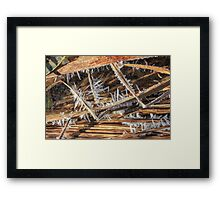 Frost and Crystals Framed Print