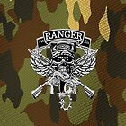 1st Ranger Bn camo (iPhone case) by Walter Colvin