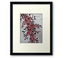 red and black blossom- bold and modern Framed Print