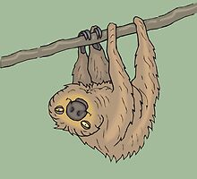 Happy Tree Sloth by Alex & Marco Mitolo
