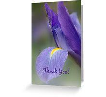 Iris Thank You Card Greeting Card
