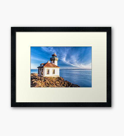 Lime Kiln Lighthouse Framed Print