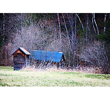 Blue Roof Photographic Print