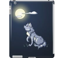Wolf Howling at the Moon iPad Case/Skin
