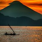 Sunset Over Bali's Mt Agung by JohnKarmouche