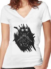 Double Boar Women's Fitted V-Neck T-Shirt