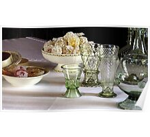 Table with Glassware  Poster