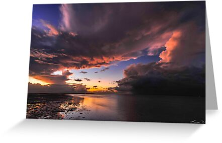 Storm & Tempest over the Lagoon I by Karen Willshaw