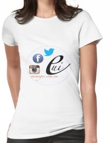 EU Images Sticker Spot Womens Fitted T-Shirt