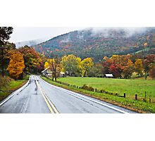October Road Photographic Print