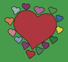 Love, Romance, Hearts - Red Blue Pink Green Yellow Baby Tee