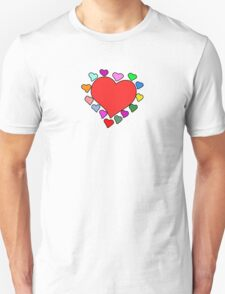 Love, Romance, Hearts - Red Blue Pink Green Yellow Unisex T-Shirt