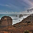 The Twelve Apostles with afternoon mist, Victoria, Australia by Ferenghi