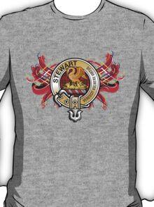Stewart Tartan & Crest T-Shirt