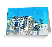 Upper West Side Water Towers Greeting Card