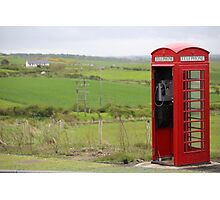 Iconic British phone booth in Northern Ireland Photographic Print