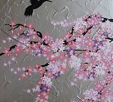 blossom with hummingbird by cathyjacobs