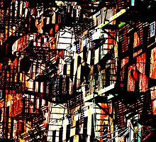 Mott St NYC Fire Escapes by icoNYC
