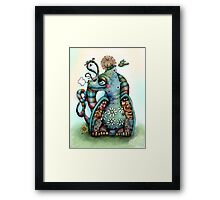 Misty the Friendly Rainbow Dragon Framed Print