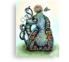 Misty the Friendly Rainbow Dragon Canvas Print