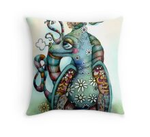 Misty the Friendly Rainbow Dragon Throw Pillow