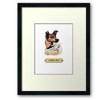 Laika: First animal in space orbit Framed Print