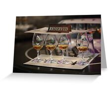 Whiskey Tasting Jameson Style Greeting Card