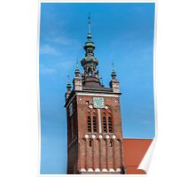 Clock Tower, Gdansk, Poland. Poster