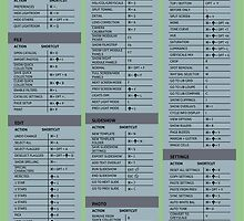 adobe Lightroom Cheat Sheet Guide   by david261272