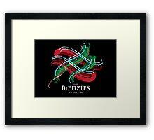 Menzies Tartan Twist Framed Print