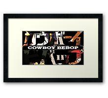 cowboy bebop logo faye jet spike ed anime manga shirt Framed Print