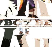 cowboy bebop logo faye jet spike ed anime manga shirt Sticker