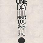 One Day I Will Find The Words by Karli Florence