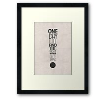 One Day I Will Find The Words Framed Print