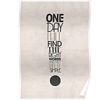 One Day I Will Find The Words Poster