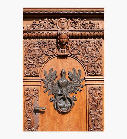 Polish eagle, door knocker. Photographic Print