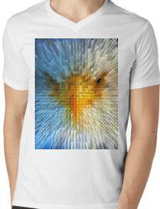 ANGRY EAGLE Mens V-Neck T-Shirt