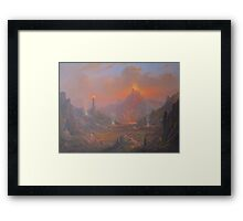 Mordor.Land Of Shadow Framed Print