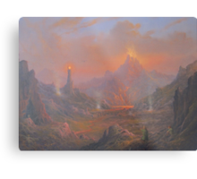 Mordor.Land Of Shadow Metal Print