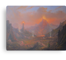 Mordor.Land Of Shadow Canvas Print