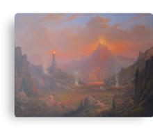 Mordor.Land Of Shadow Canvas Print