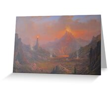 Mordor.Land Of Shadow Greeting Card