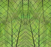 Leaf Symmetry in Green by Cora Niele