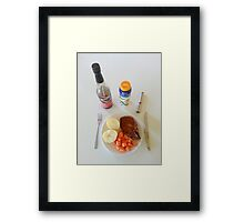 Spicy Pork Chops Framed Print