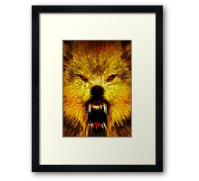 ANGRY WOLF Framed Print
