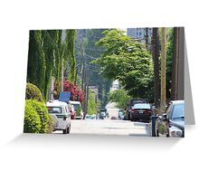 Vancouver Downtown West Side Street Greeting Card