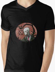 Slenderman Mens V-Neck T-Shirt