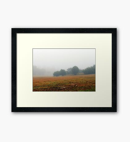 Once upon a misty morn.... Framed Print