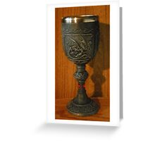 Goblet of wine, anyone? Greeting Card