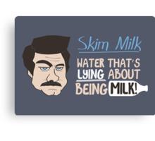 Skim Milk Canvas Print